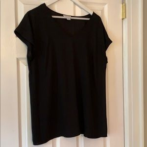 Motherhood Maternity Black Short Sleeved Top